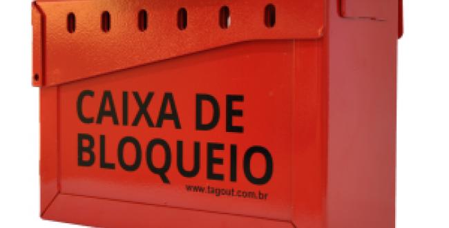 CAIXA DE BLOQUEIO EM AÇO 23X9X15,5CM13 CADEADOS - TAGOUT
