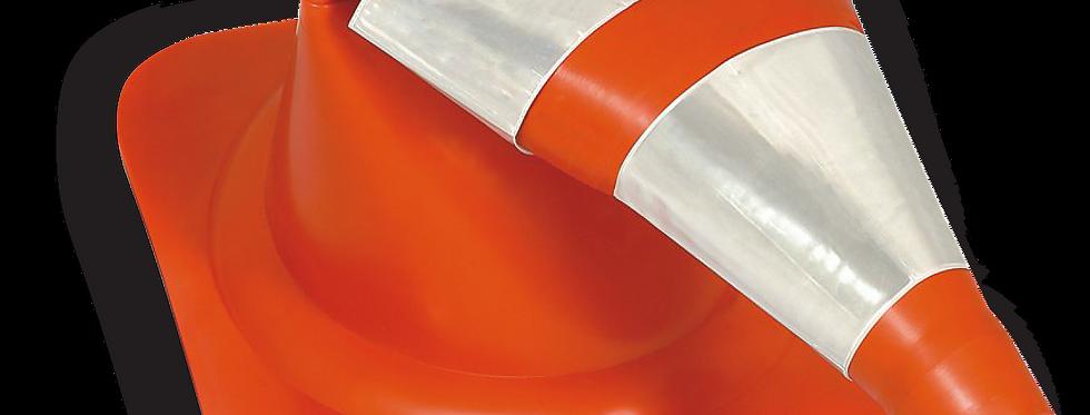 CONE FLEXÍVEL 50 CM COM FAIXA REFLETIVA – PLASTCOR
