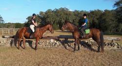 Jenn & Sarah Rocking Horse Schooling