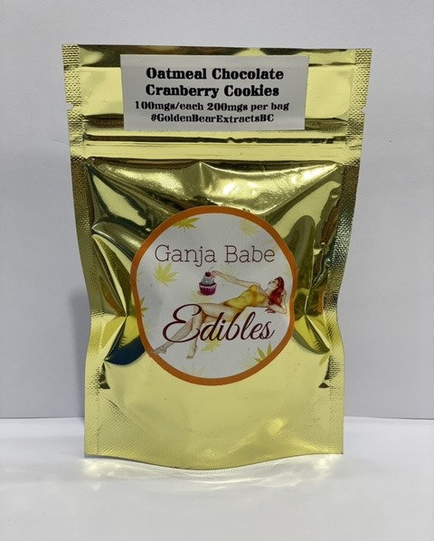 Oatmeal Chocolate Cranberry Cookie 200mg/pkg THC Indica