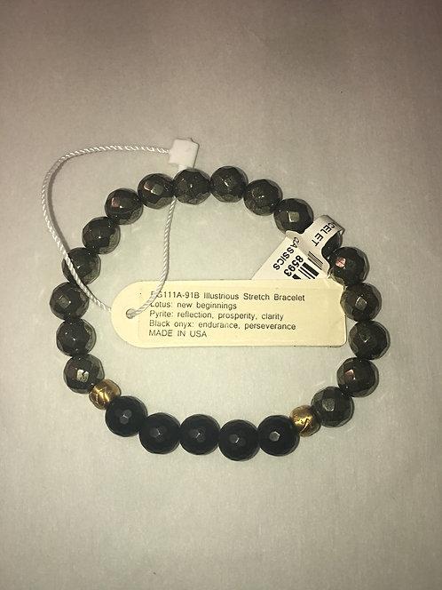 Satya Jewelry Pyrite Black Onyx Bracelet