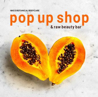 Pop Up Shop & Raw Beauty Bar