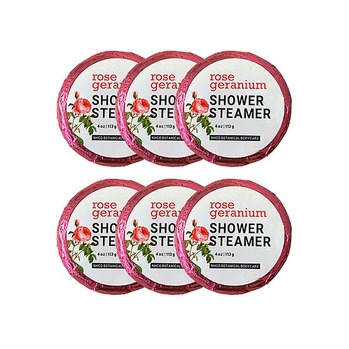 Rose Geranium Shower Steamer (6pk)