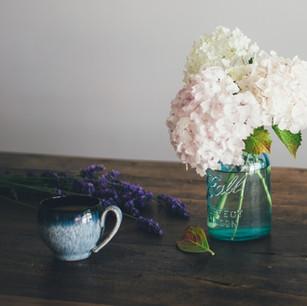 Improvisierte Vase