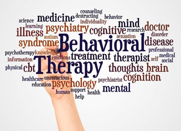 טיפול התנהגותי - ענן של מילים