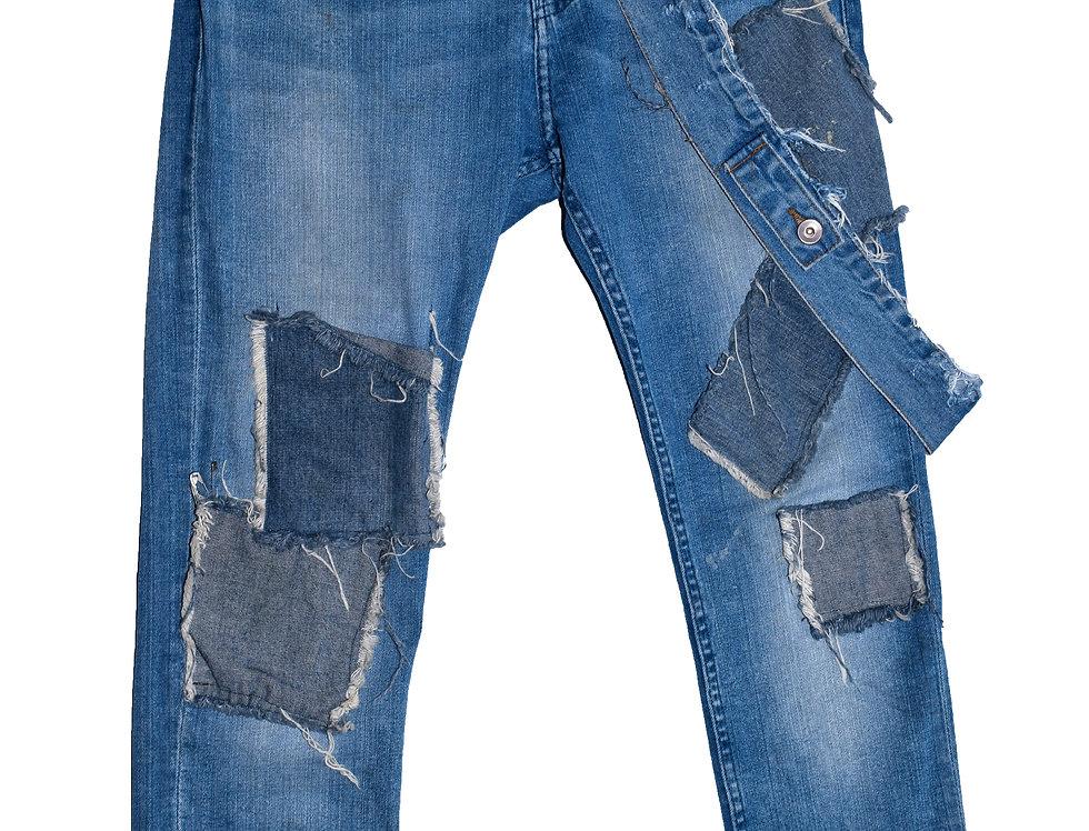 Overstrap Denim Jeans