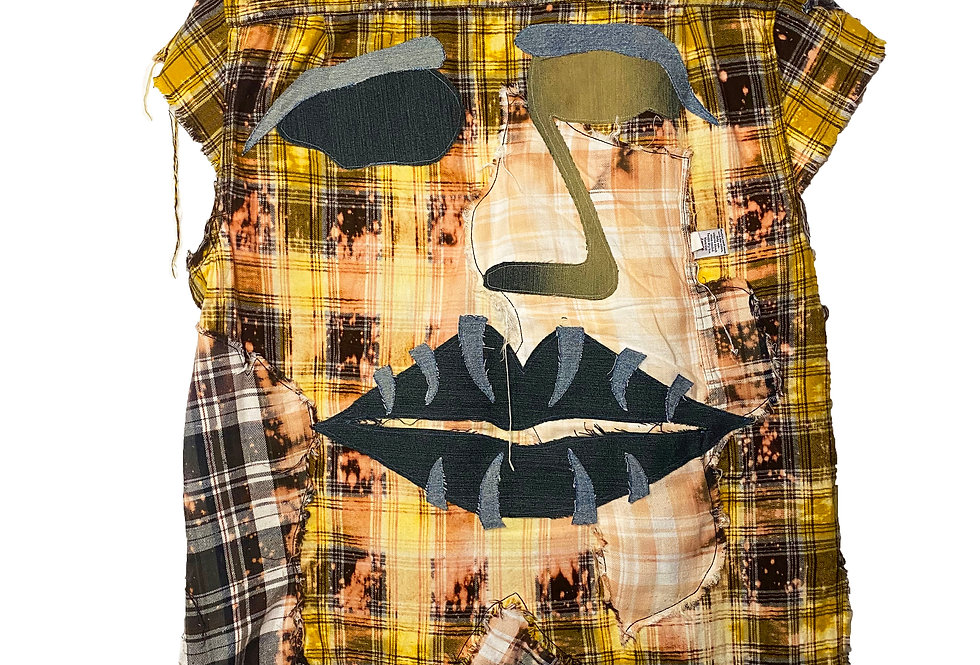 Distressed Face Flannel