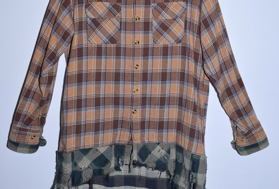 Oversized Brown/Green Flannel