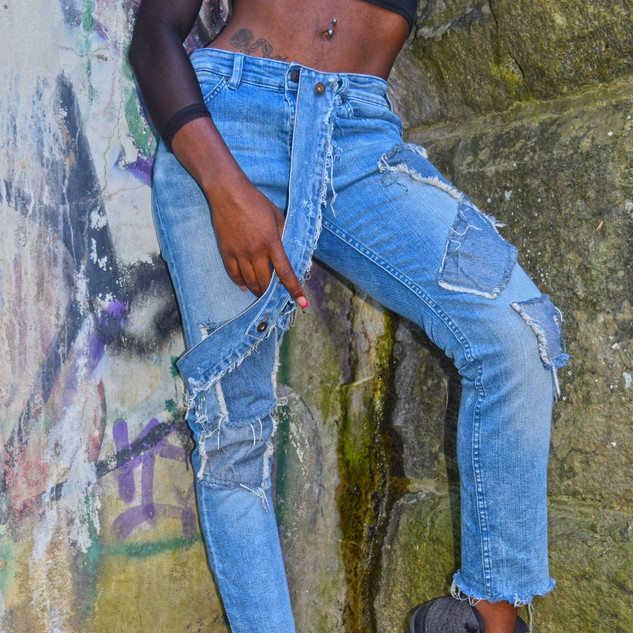 Overstrap Jeans