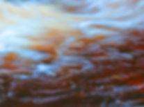swirling water in a river