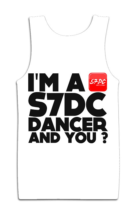 DEBARDEUR ''I'M A S7DC DANCER AND YOU?'' BLANC