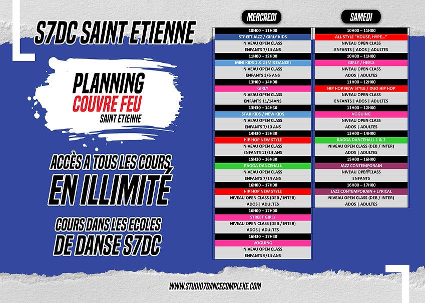 PLANNING COUVRE FEU 2.0 SAINT ETIENNE NO