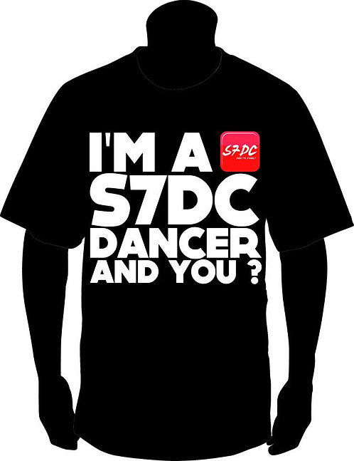 TSHIRT ''I'M A S7DC DANCER AND YOU?'' NOIR