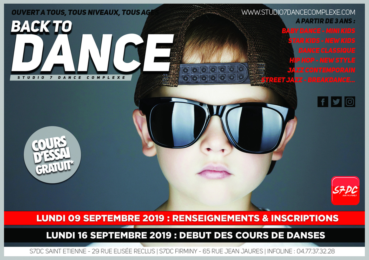 BACK TO DANCE 5 - KIDS LUNETTES CASQUETT