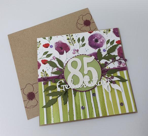 Karte zum 85.Geburtstag...