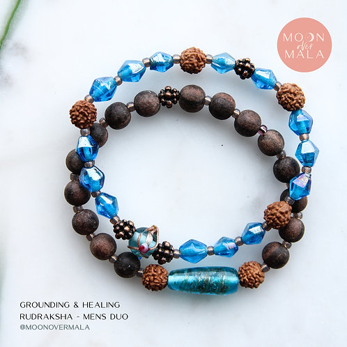 Grounding & Healing Rudraksha - Men's Duo