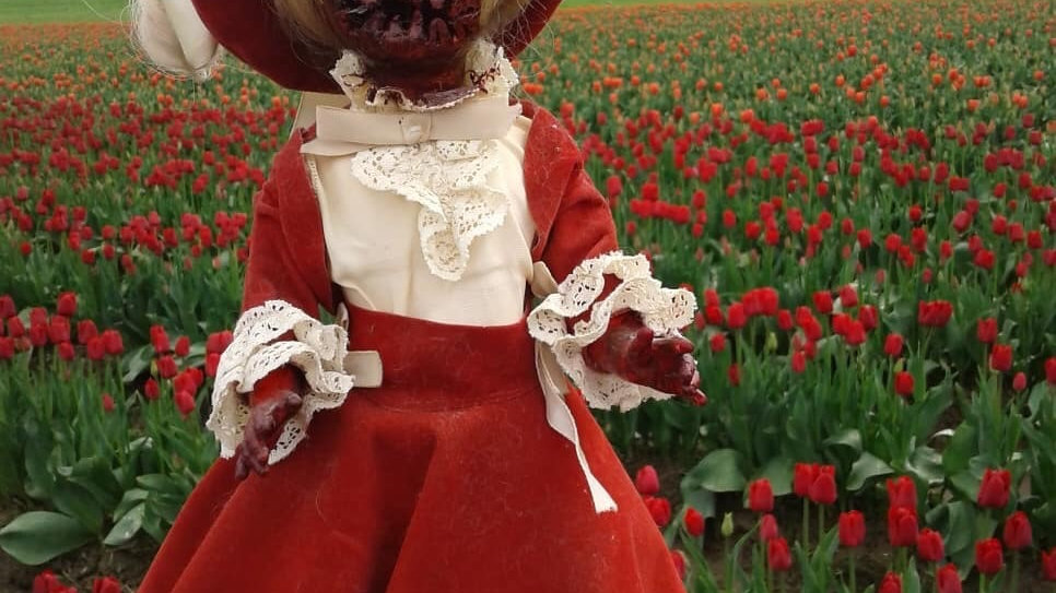 Lady Maim in Spring card