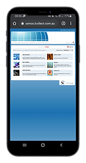 Mobile phone showing debt collection portal