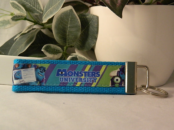 Monsters University blue Wristlet Key Fob