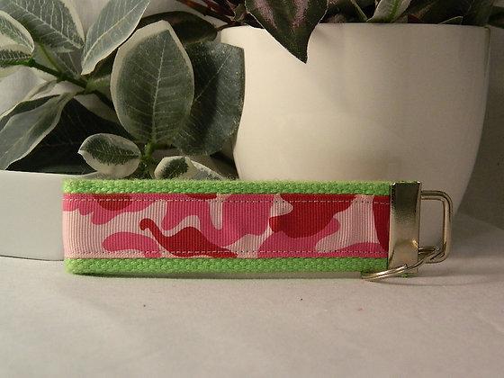 Pink Camo Wristlet Key Fob