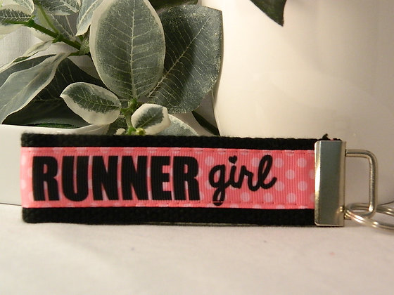 Runner Girl Wristlet Key Fob