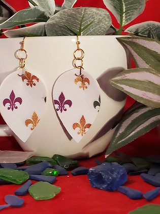 Mardi Gras Fleur-De-Lis Earrings