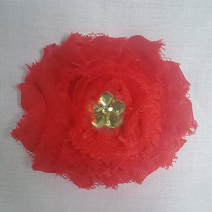 Red Chiffon Hair Clip