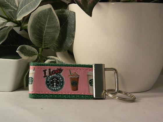 I Love Starbucks Mini Key Fob