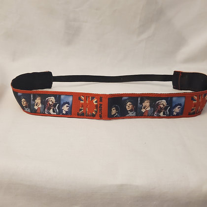 "One Direction ""1D"" with Flag Reversible Headband with Elastic"