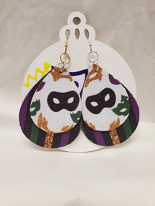 Mardi Gras Double Layer Mask Earrings