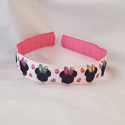 Minnie Pastel Bunny Ears Reversible Headband with Cover