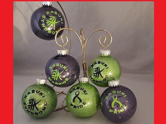 Set of 3 Kabuki ornaments