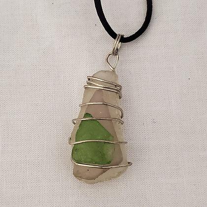 Sea Glass Pendant - O