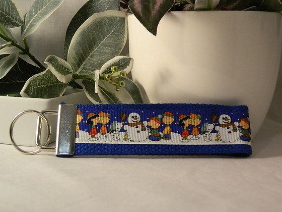 Charlie Brown & Peanuts Snowman Wristlet Key Fob