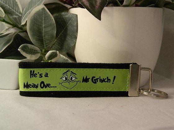 Grinch Wristlet Key Fob