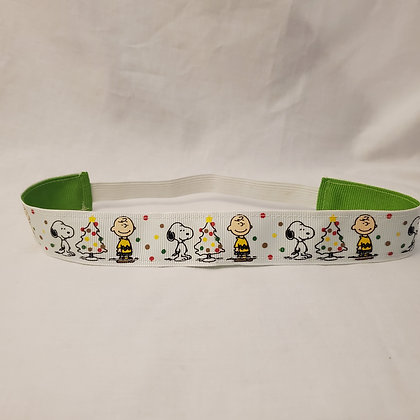 Charlie Brown and Snoopy Reversible Headband with Elastic