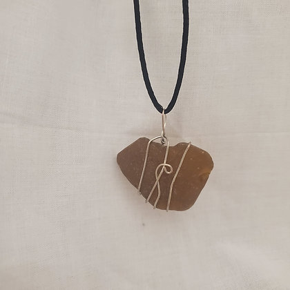 Sea Glass Pendant - T