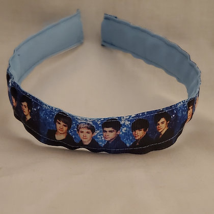 One Direction (Dark Blue) Reversible Headband with Cover