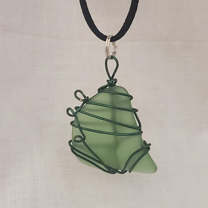 Sea Glass Pendant - D