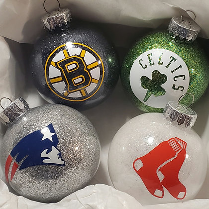 Boston Sports Ornament set