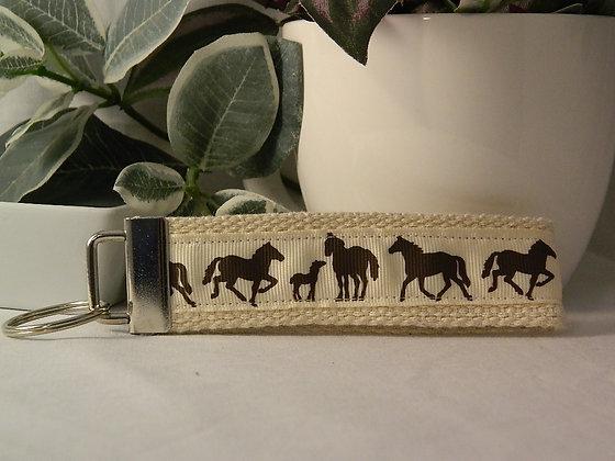 Horses Wristlet Key Fob