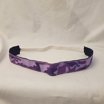 Purple Camo Elastic Headband