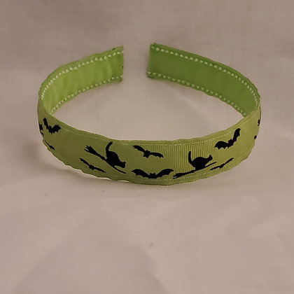 Bats (Green) Reversible Headband with Cover
