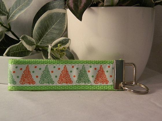 Christmas Tree Wristlet Key Fob