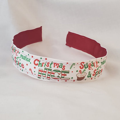 Sugar & Spice Reversible Headband with Cover