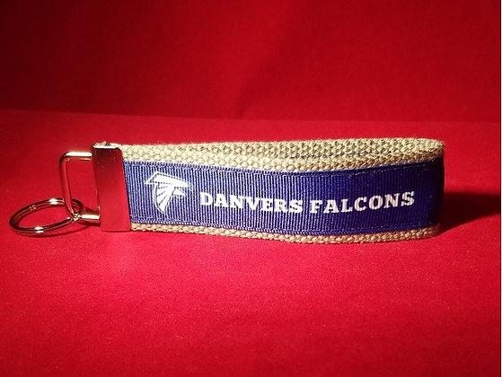 Danvers Falcons Wristlet Key Fob Blue