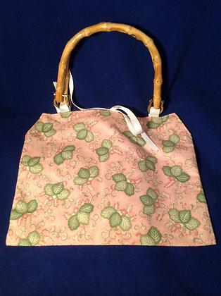 Pink & Green Floral Handbag