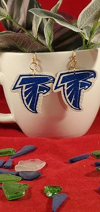 Danvers Falcons Leatherette Earrings
