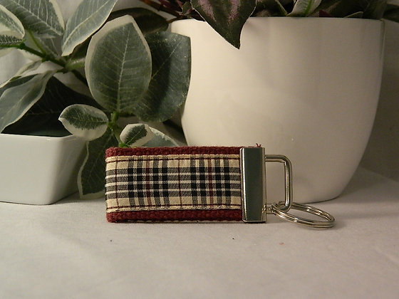 Plaid Mini Key Fob
