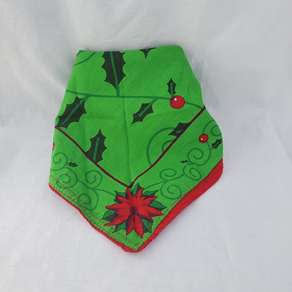 Green Pointsetta Dog Bandana